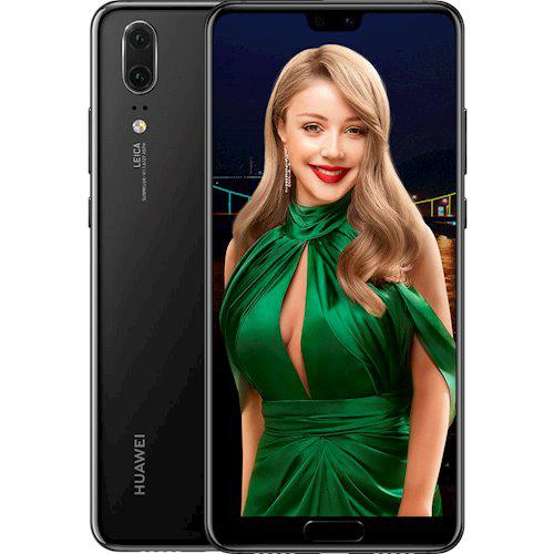 "Смартфон Huawei P20 4/128GB Black 20+12/24Мп, 5.8"" IPS, 2sim, 3400 мА*ч, Kirin 960, 8 ядер, 4G (LTE)"