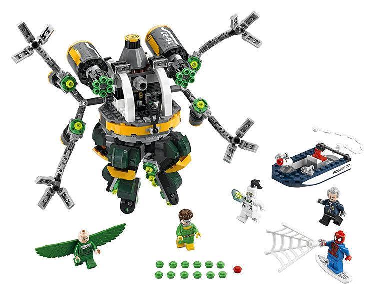 Конструктор Lepin 07040 «Человек-паук: В ловушке Доктора Осьминога»