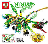 Конструктор Lepin 39009 «Трехголовый Зеленый Дракон (Серия Ninjsaga )
