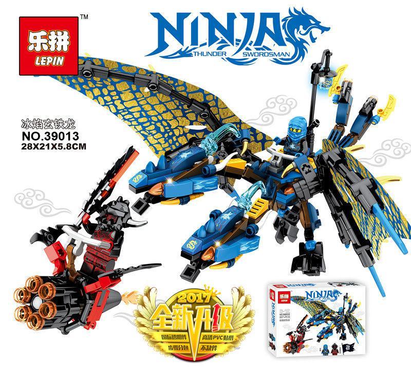 Конструктор Lepin 39013 «Синий Дракон Джея (Серия Ninjsaga