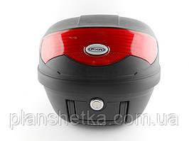 Кофр для мотоцикла (багажник) HF-808  черный мат