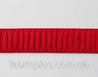 Резинка декоративная гофре 5 см красная