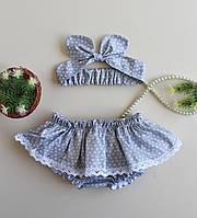 Трусики на подгузник (блумеры) и повязка для девочки Grace 3-12 мес, фото 1