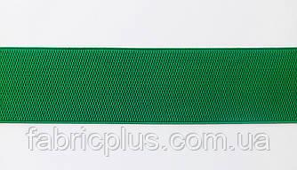 Резинка  декоративная  7,5 см, зеленая