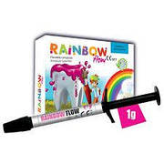 Кольоровий композит Rainbow Flow шприц рожевий, Cerkamed (1г)