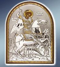 Икона серебряная греческая Георгий