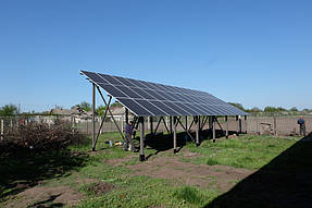 Сетевая солнечная станция 30 кВт с. Петропавловка 3