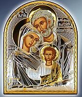 Икона серебряная греческая Святе сімейство