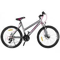 Гірський алюмінієвий велосипед Crosser Infinity 24 дюйма. Сірий, фото 1