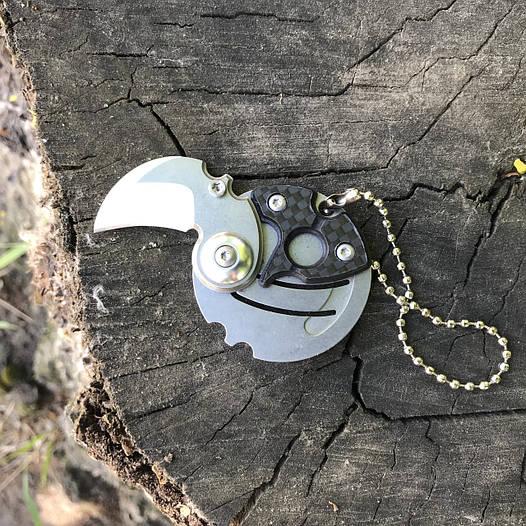Мини нож брелочный Coin Steel Монета 440C Steel (Replica)