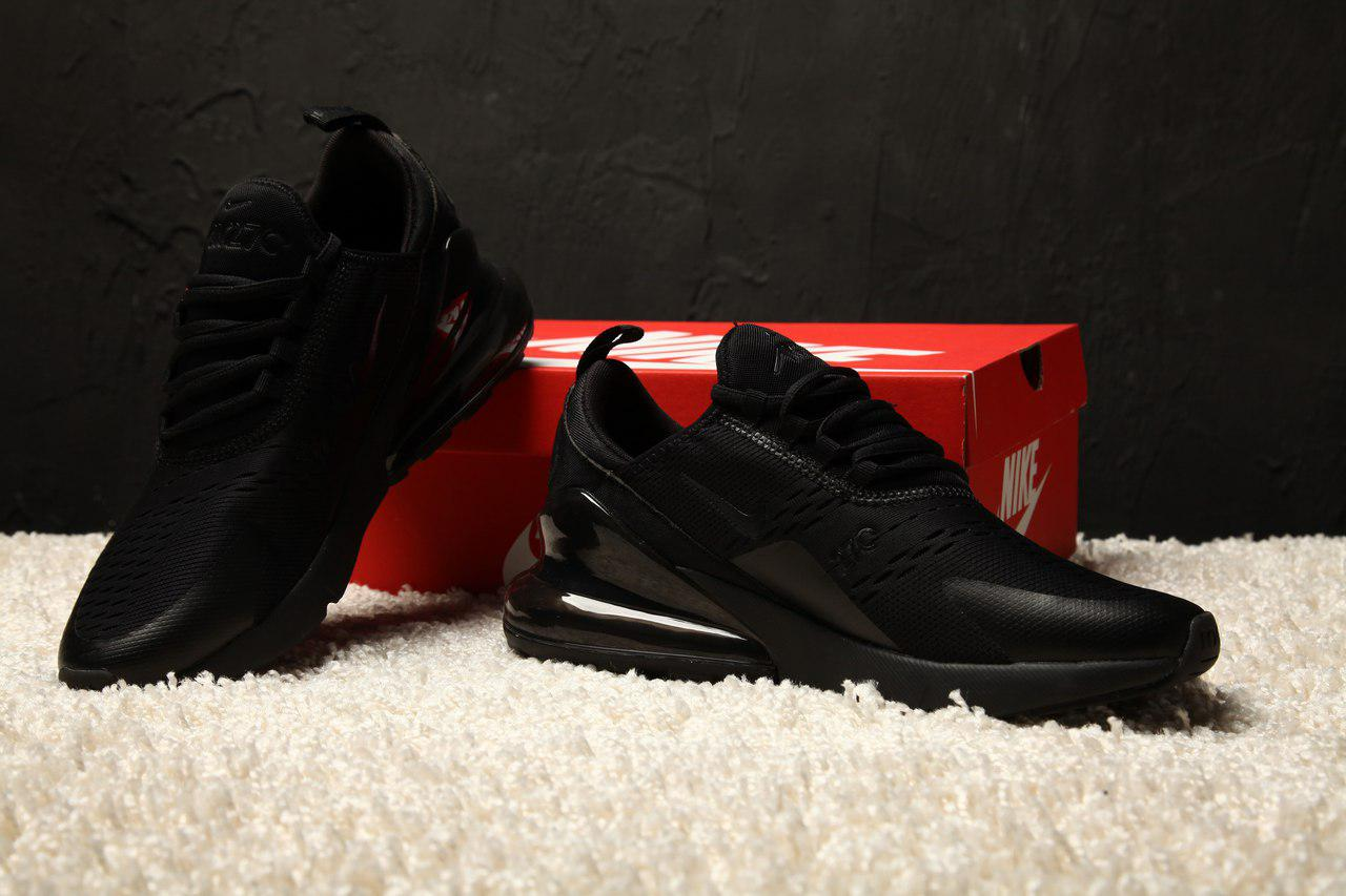 Спортивные кроссовки для бега мужские сетка Nike Air Max 270 Black (найк  аир макс) 8c59f52dbd2