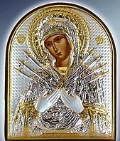 Икона серебряная греческая Семистр