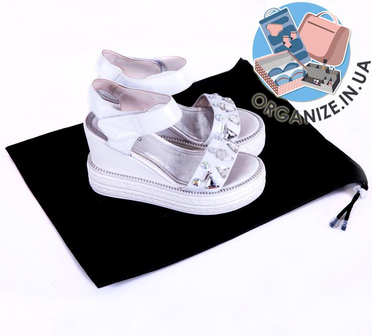 Сумка для обуви на затяжке (черный)
