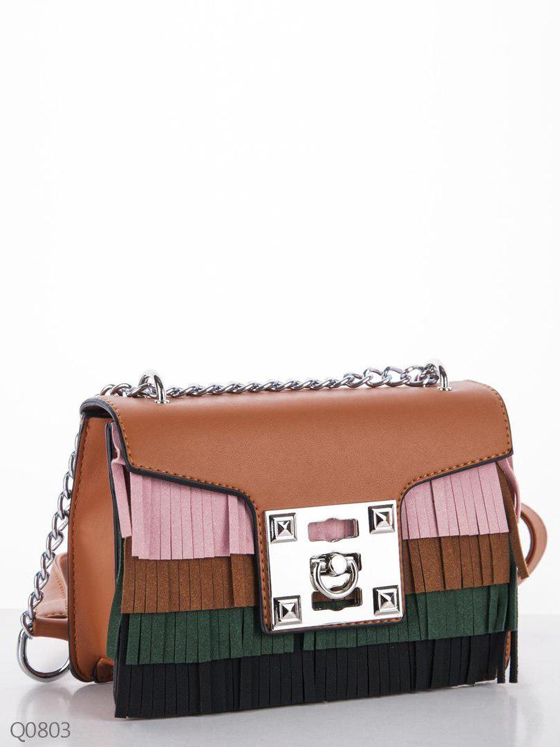 Оригинальная женская сумка-клатч с декоративной бахромой - Модная одежда 41a32a756a426