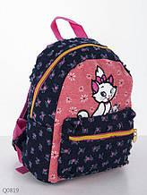 Рюкзак детский текстильный с рисунком