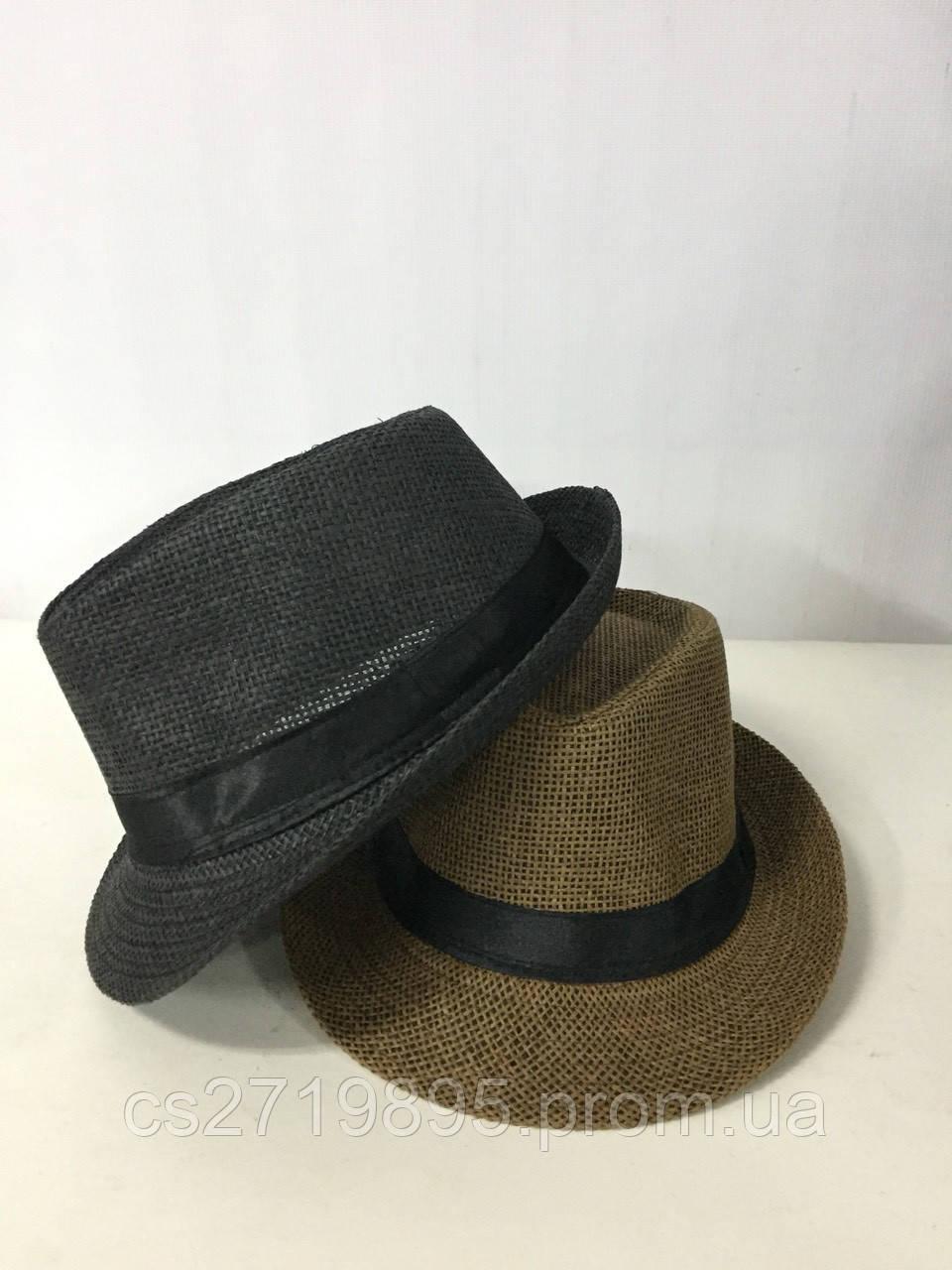 Шляпа мужская рогожка