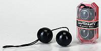 Вагинальные шарики - PVC Duotone Balls Black, 3,5 см.