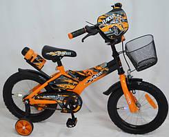 Велосипед детский 12 дюймов Racer с корзиной оранжевый