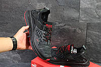 Puma Ignite Evoknit мужские кроссовки черные с красным (Реплика ААА+)