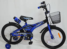Велосипед детский 12 дюймов Racer с корзиной синий