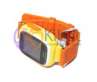 Детские часы Q100 с GPS Orange, Wi-Fi, сенсорный экран 1.22', GPS трекер (маяк для отслеживания детей), стандарты связи GPS / GSM / GPRS, аккумулятор