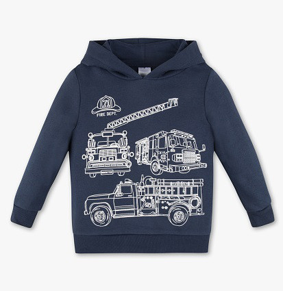 Теплая детская толстовка с капюшоном для мальчика C&A Германия Размер 110