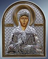 Икона серебряная греческая Матрона