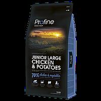 Profine Junior Large Breed Chicken and Potatoes корм для молодых собак крупных пород курицей и картофелем 15кг