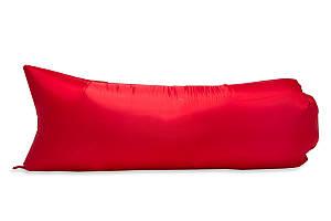 Надувной гамак аэролежак ламзак AirLezhak Econom красный