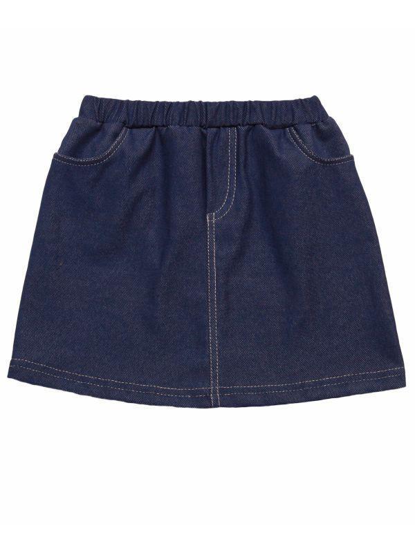 Юбка для девочки с карманами под джинс оптом, фото 1