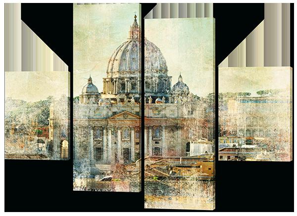 Модульная картина Дворец ретро