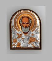 Икона серебряная греческая СВ. Николай