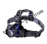 Оригинальный фонарик на голову 8203A / 8203B, светодиодный, с наклоном, 50Вт, питание 3*ААА, корпус пластик