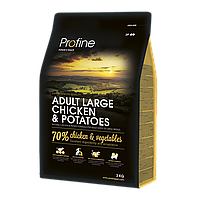 Profine Adult Large Breed Chicken and Potatoes для взрослых собак крупных пород с курицей и картофелем 15кг