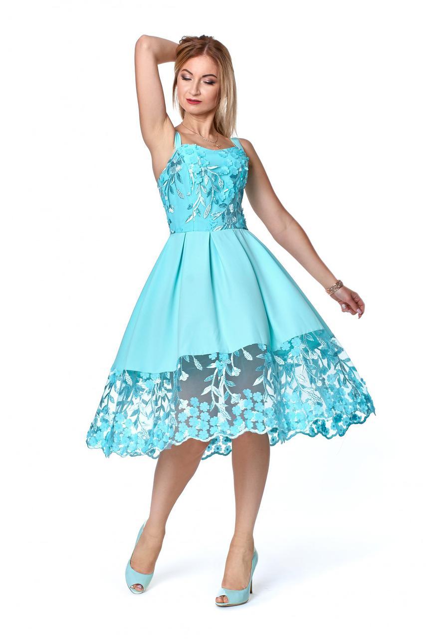 Платье № 1074, цвет мятный