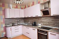 Кухня Original Лен сиреневый из пленочного МДФ, фото 1