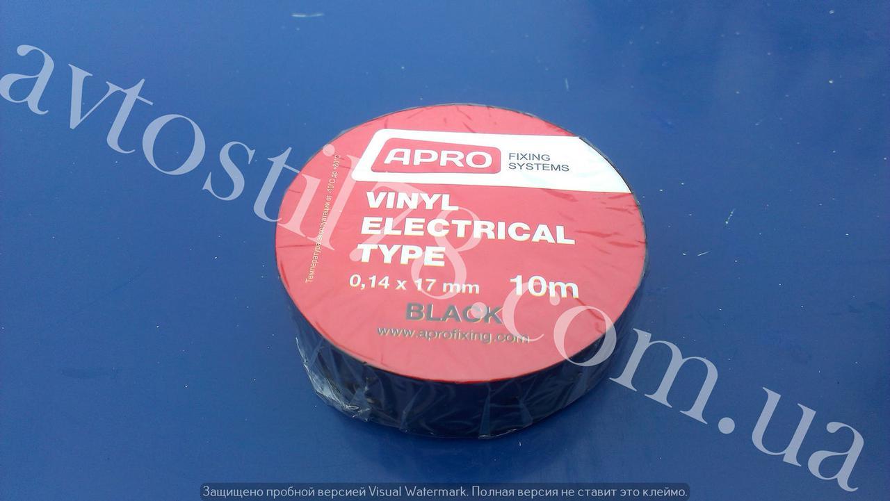 Изолента черная L=10м APRO, фото 1