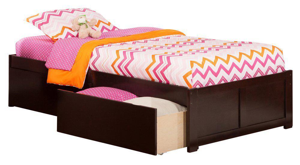 """Кровать с ящиками """"Фред"""" из натурального дерево"""