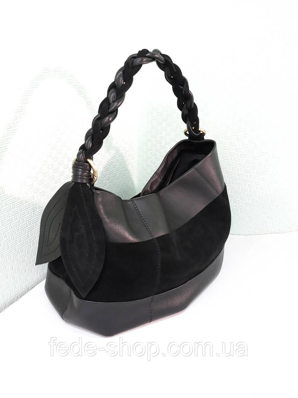 863f943ad6a2 Мягкая сумка-мешок чёрная кожа, цена 3 060 грн., купить в Киеве ...