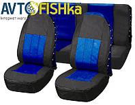 Чехлы на сидения автомобиля Vitol FD-101113 BK-BL