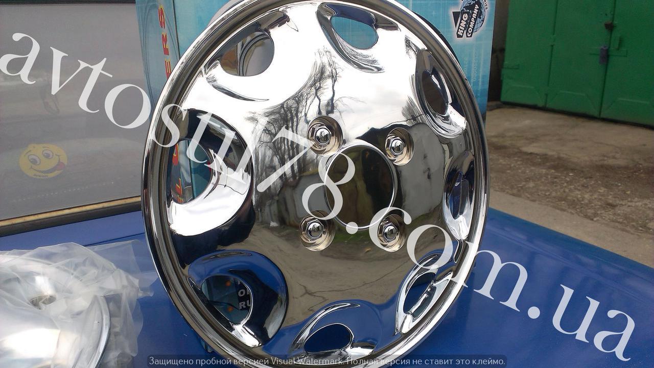 Колпак колеса Ваз, Заз 13 (комплект) Хром