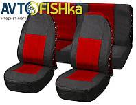 Чехлы на сидения автомобиля Vitol FD-101113 BK-RD, фото 1