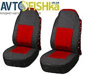 Чехлы на сидения автомобиля Vitol FD-101113 BK-RD