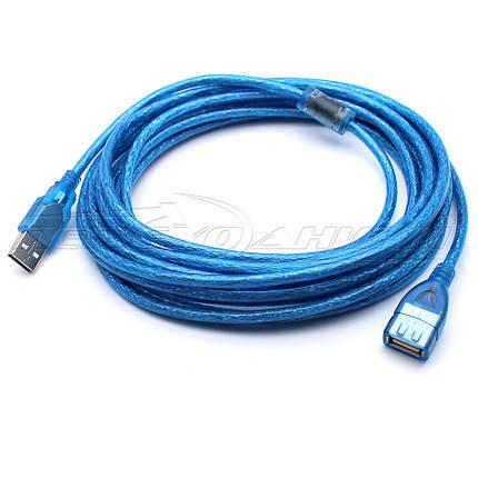 Кабель удлинитель USB 2.0 AM - AF с ферритом(хорошее качество),  8.5 м, фото 2