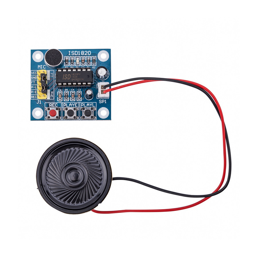 ISD1820 модуль записи голоса с микрофоном и динамиком