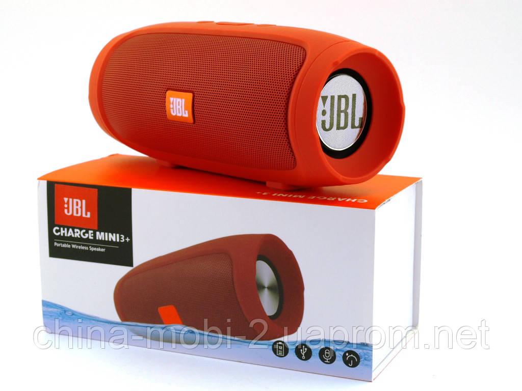 JBL Charge mini 3+ E3+ J007 6W копія, портативна колонка з Bluetooth FM MP3, червона