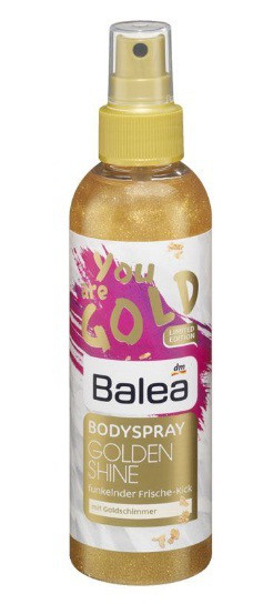 Спрей для тела Balea Bodylotion Golden Shine 200 мл