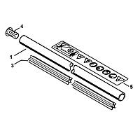 Хвостовик Stihl Ø25,4 мм для мотокос FS 55 (4140-710-7101)