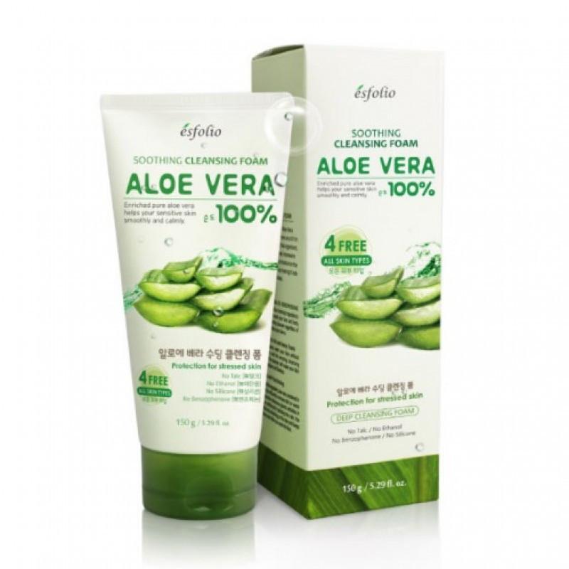 Пена для умывания Esfolio Aloe Vera Soothing Cleansing Foam - 150мл