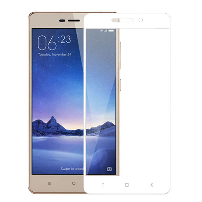 Защитное стекло Mocolo для Xiaomi Redmi 3/3S/3Pro Full Screen 2D Glass Cover в т.у. White
